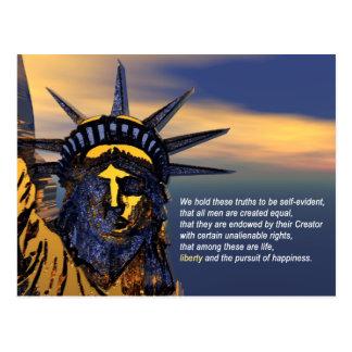 Unübertragbare Rechte Postkarte