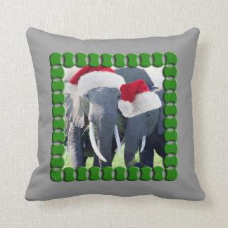 Unvergessliches Elefant-Weihnachten Kissen