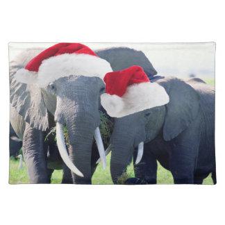 Unvergessliches Elefant-Weihnachten Tischset