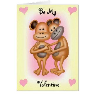 Unverschämte Affen in der Liebe Karte