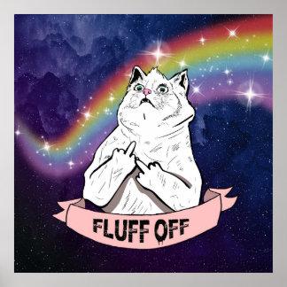 Unverschämte Katze im Raum Poster