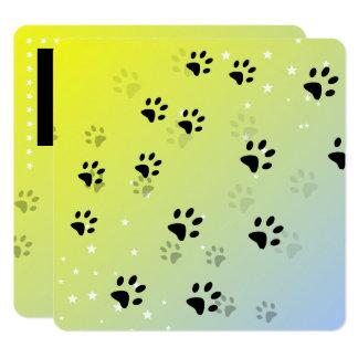 Unverschämte Katzen-Abdrücke (addieren Sie Quadratische 13,3 Cm Einladungskarte