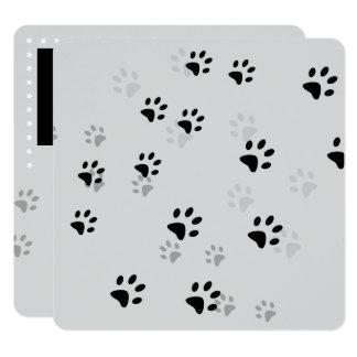 Unverschämte Katzen-Abdrücke Quadratische 13,3 Cm Einladungskarte
