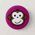 Unverschämter Affe [lila] Runder Button 5,1 Cm