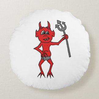 Unverschämter kleiner Teufel Rundes Kissen