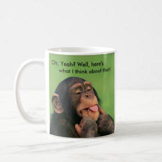Unverschämter Schimpanse Kaffeetasse