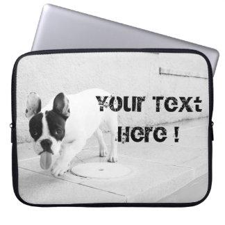 Unverschämtes Frenchie schwarze u. Weiße Schablone Laptopschutzhülle