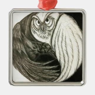 Unversehrter Kreis Quadratisches Silberfarbenes Ornament