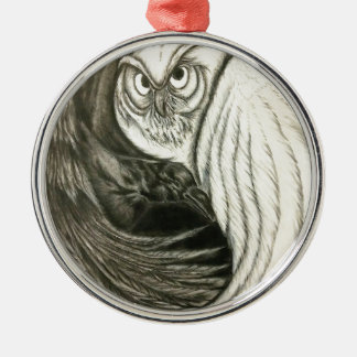 Unversehrter Kreis Rundes Silberfarbenes Ornament