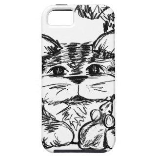 Unwahrscheinliche Freunde Katze und Maus iPhone 5 Etui