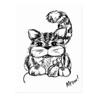 Unwahrscheinliche Freunde Katze und Maus Postkarte