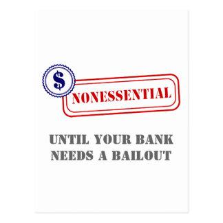 Unwesentlich • Bank-Sicherheitsleistung Postkarte