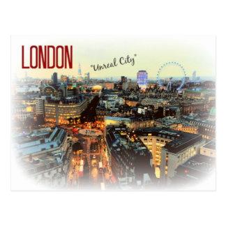 """Unwirkliche Stadt-"" Eliot-Postkarte Londons Postkarte"