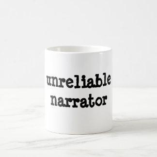 unzuverlässiger Erzähler Kaffeetasse