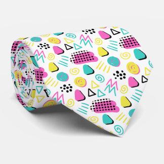 Upbeat abstrakt im Türkis-Rosa-Gelb Individuelle Krawatten