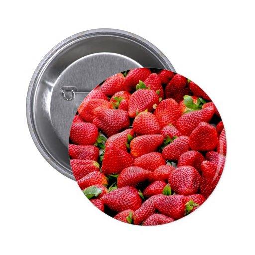 Üppige reife Erdbeeren Anstecknadelbutton