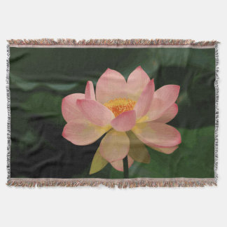 Üppiger grüner Zen-Garten weiches rosa Lotus Decke