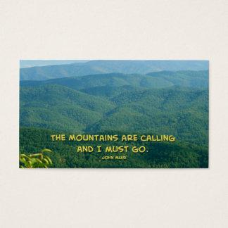 Üppiges grünes rauchiges Mtns /Mtns Nennen! Visitenkarte