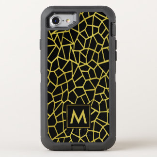 Upscale Luxusmosaik des Goldschwarzes OtterBox Defender iPhone 7 Hülle
