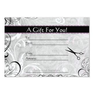 Upscale Wirbel und Fluers Salon-Geschenk-Karte 8,9 X 12,7 Cm Einladungskarte