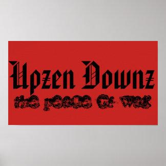 Upzen Downz der Frieden des Krieges Poster