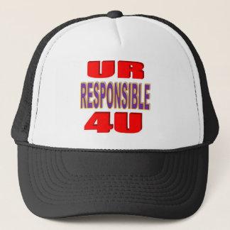 UR verantwortliches 4U Truckerkappe