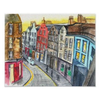 Urban Sketching - Victoria Street Edinburgh Poster
