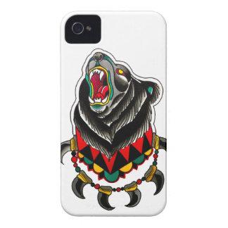 Ureinwohner-Bär mit Bärentatze-Halskette iPhone 4 Case-Mate Hüllen