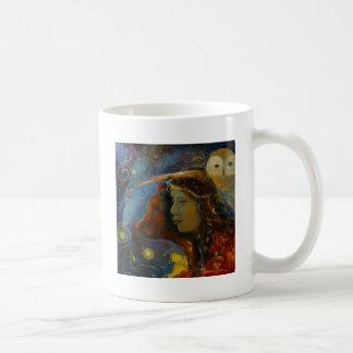 Ureinwohner-Bärn-und Eulen-Tiergeist Kaffeetasse