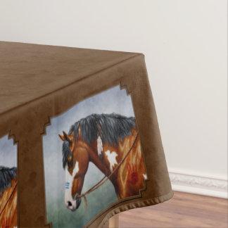 Ureinwohner-Buchtpinto-Pferd Brown Tischdecke