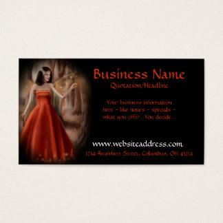 Ureinwohner-Frauen-orange KleiderVisitenkarten Visitenkarten