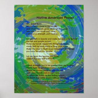 Ureinwohner-Gebet Poster