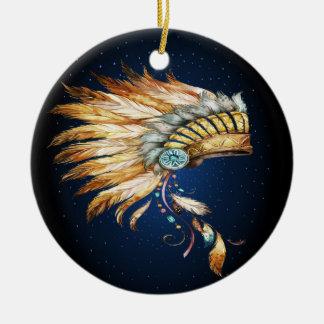 Ureinwohner-HauptKopfschmuck-Verzierung Keramik Ornament