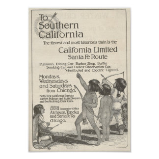 Ureinwohner-Kinderanzeige 1916 Kalifornien Poster