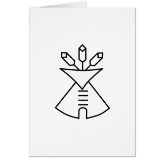 Ureinwohner-Kirchen-Symbol Karte