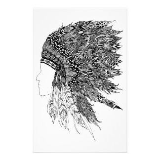Ureinwohner-Kopfschmuck Briefpapier