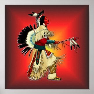 Ureinwohner-Krieger #6 Poster