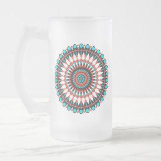 Ureinwohner-Mandala Mattglas Bierglas