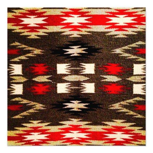 Ureinwohner-Navajo-Stammes- Entwurfs-Druck Personalisierte Ankündigung