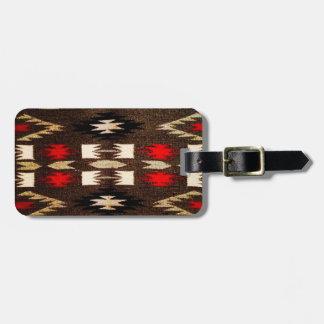Ureinwohner-Navajo-Stammes- Entwurfs-Druck Gepäckanhänger