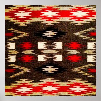 Ureinwohner-Navajo-Stammes- Entwurfs-Druck Poster