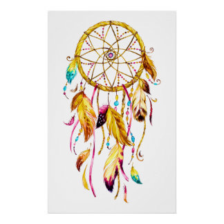Ureinwohner-Reihe Dreamcatcher 3 Poster