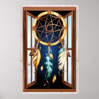 Ureinwohner-Reihe Dreamcatcher 4 Poster