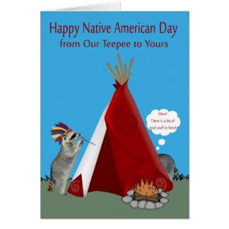 Ureinwohner-Tag von unserem Teepee zu Ihrem Karte