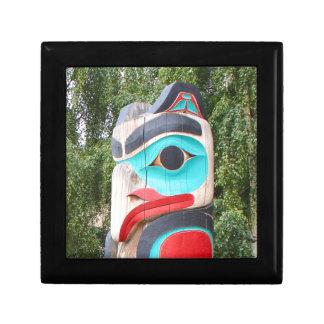 Ureinwohner-Totempfahl, Anchorage, Alaska 2 Erinnerungskiste