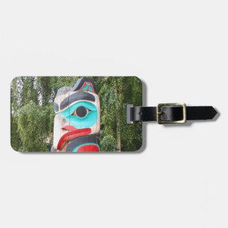 Ureinwohner-Totempfahl, Anchorage, Alaska 2 Gepäckanhänger