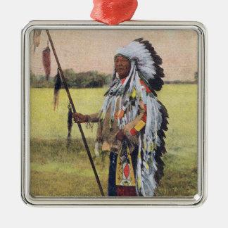 Ureinwohner-Verzierung Silbernes Ornament