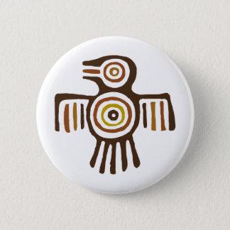 Ureinwohner-Vogel Runder Button 5,1 Cm