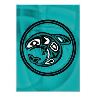 Ureinwohner-Wal Photo Druck