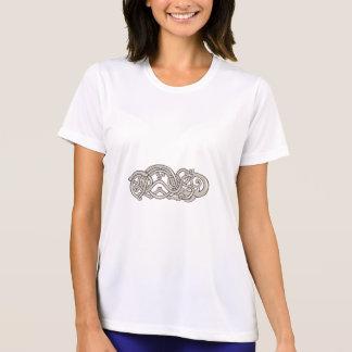 Urnes Schlangen-ausgedehnter Magen Retro T-Shirt